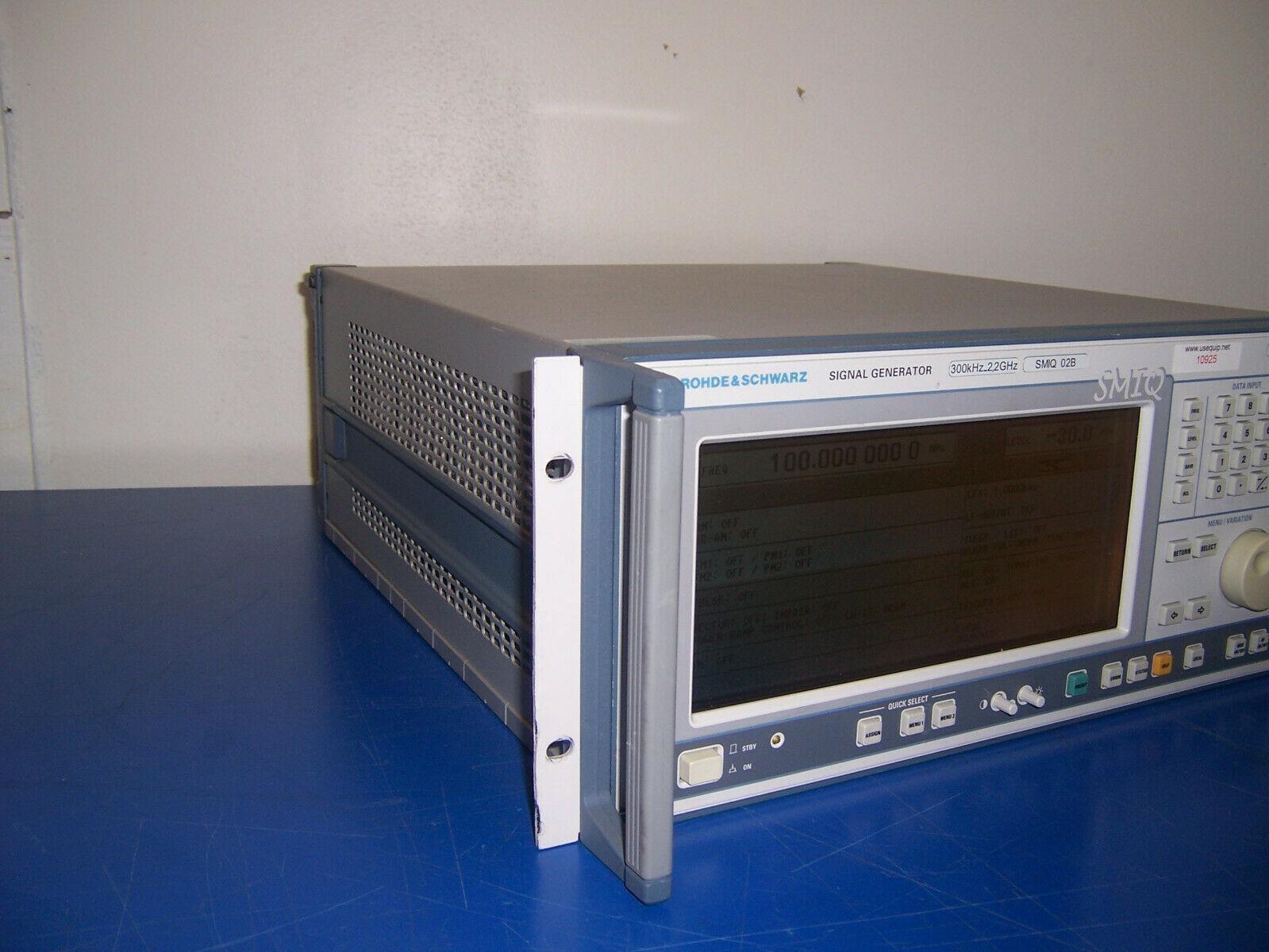 10925 Rohde & Schwarz R&S SMIQ02B Signal Generator 300KHZ - 2.2GHZ W/ options