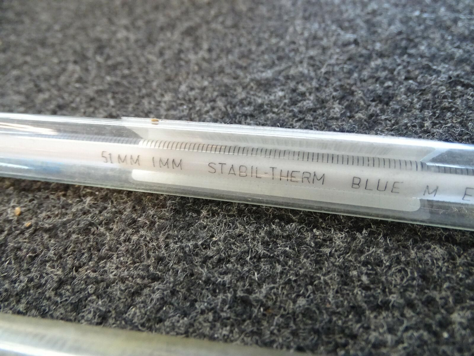 7 Laboratory Thermometers Blue M Propper Trophy Northrup Farenheit GFI.