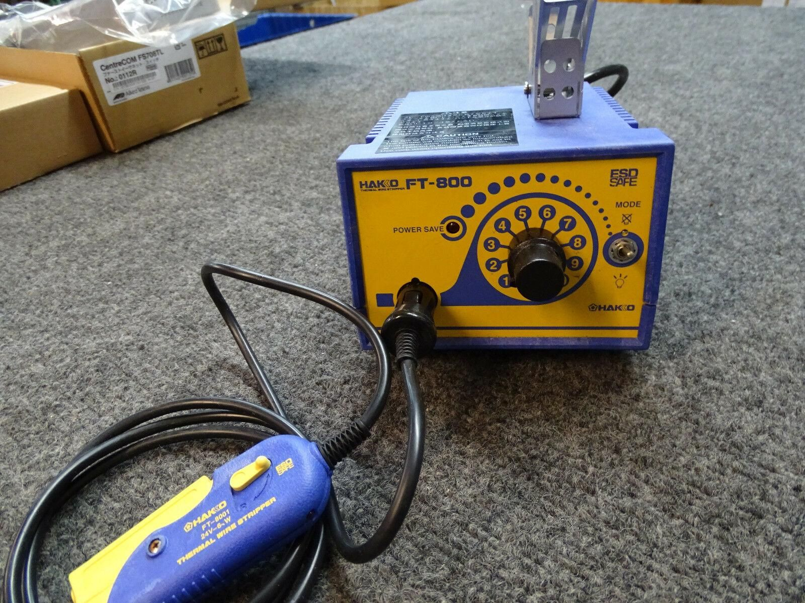 Hakko FT-800 Thermal Wire Stripper Station w/ FT-8001 Handpiece BRAND NEW.