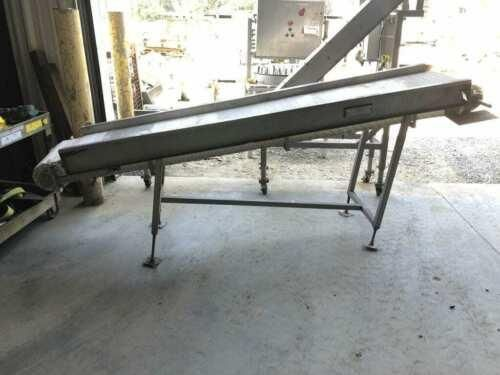 "9ft X 18"" Food Grade SS Plastic Chain-Link Belt 10 Incline Conveyor"