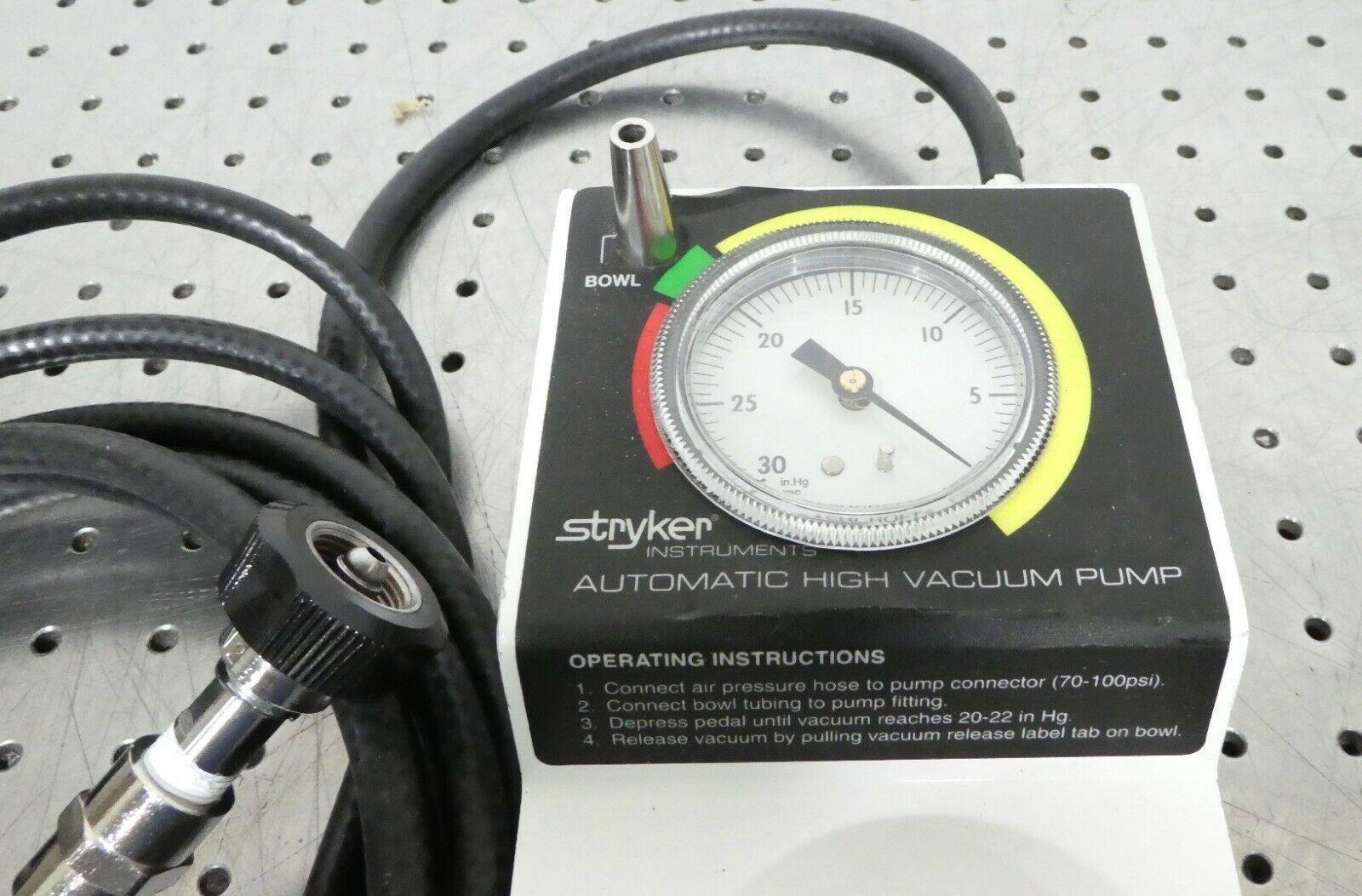 R162413 Stryker Automatic High Vacuum Foot Pump 0206-500-000