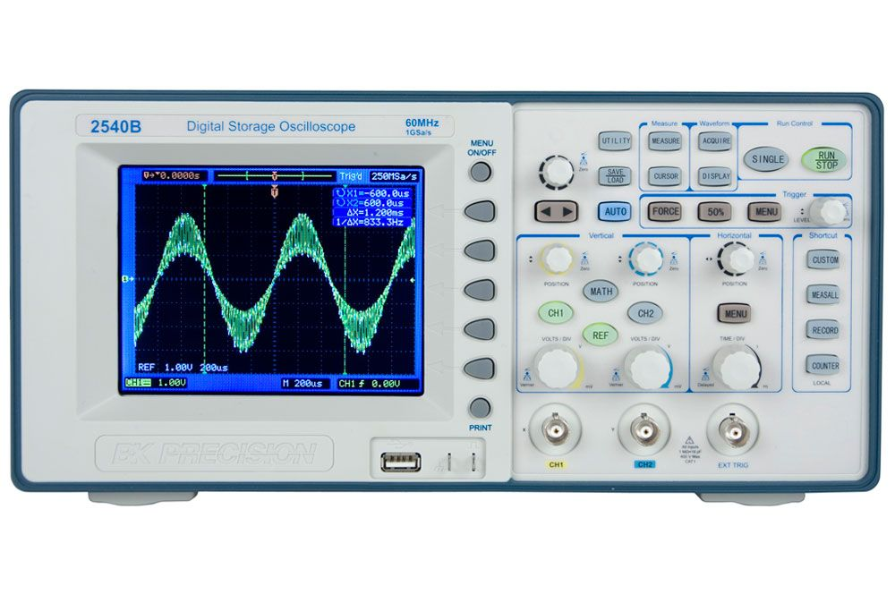 B&K Precision 2540B Series 60 MHz and 100 MHz, 1 GSa/s Digital Storage Oscilloscopes