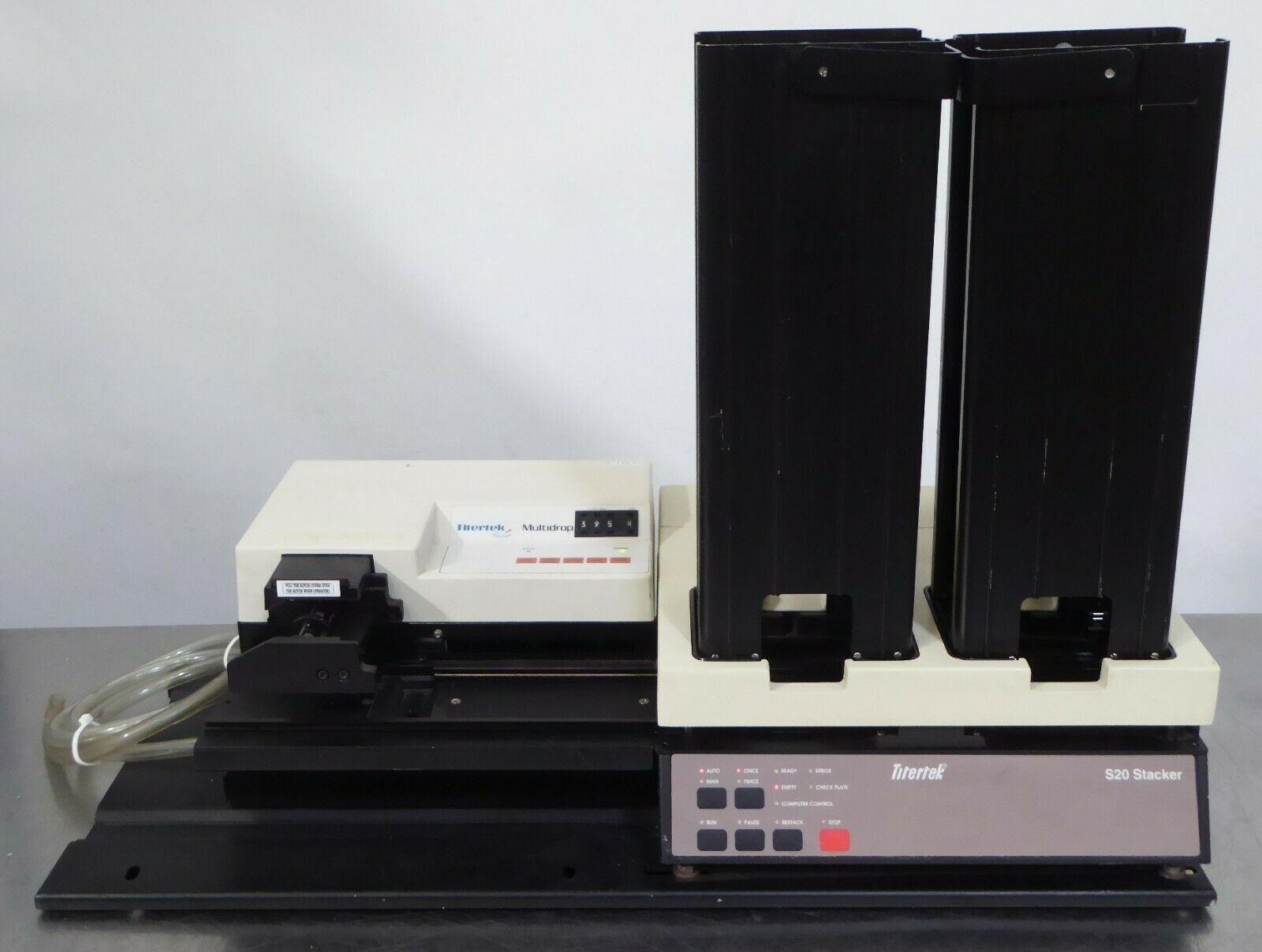 T164662 Titertek Multidrop Dispenser Type 831 w/ S20 Microplate Stacker