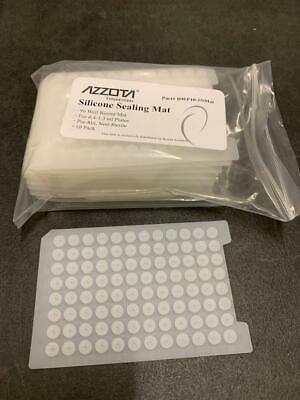 Azzota 96 WELL ROUND SILICONE SEALING MAT, 10/PK