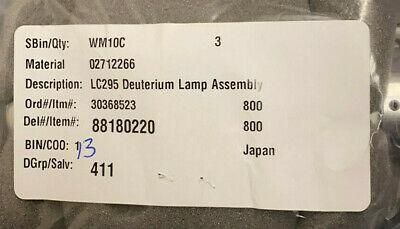 NEW Perkin Elmer  02712266 LC295 Deuterium Lamp Assembly, Free shipping in USA