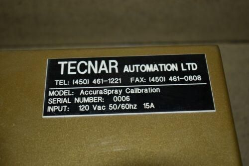 TECNAR AUTOMATION ACCURASPRAY CALIBRATION -G3  (PF40)