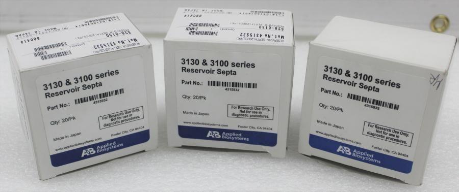 Applied Biosystems 3130 & 3100 Series Reservoir Septa 4315932 Qty 56 3 Boxes