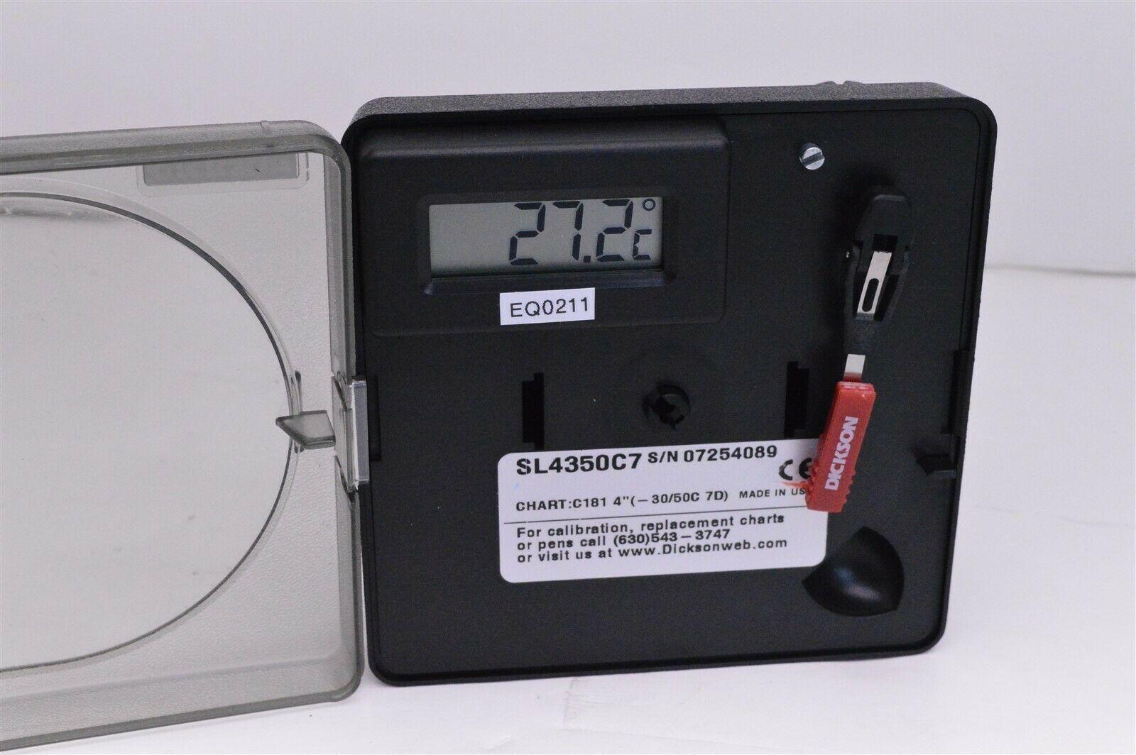 Dickson data SL4350C7 temperature chart recorder plotter