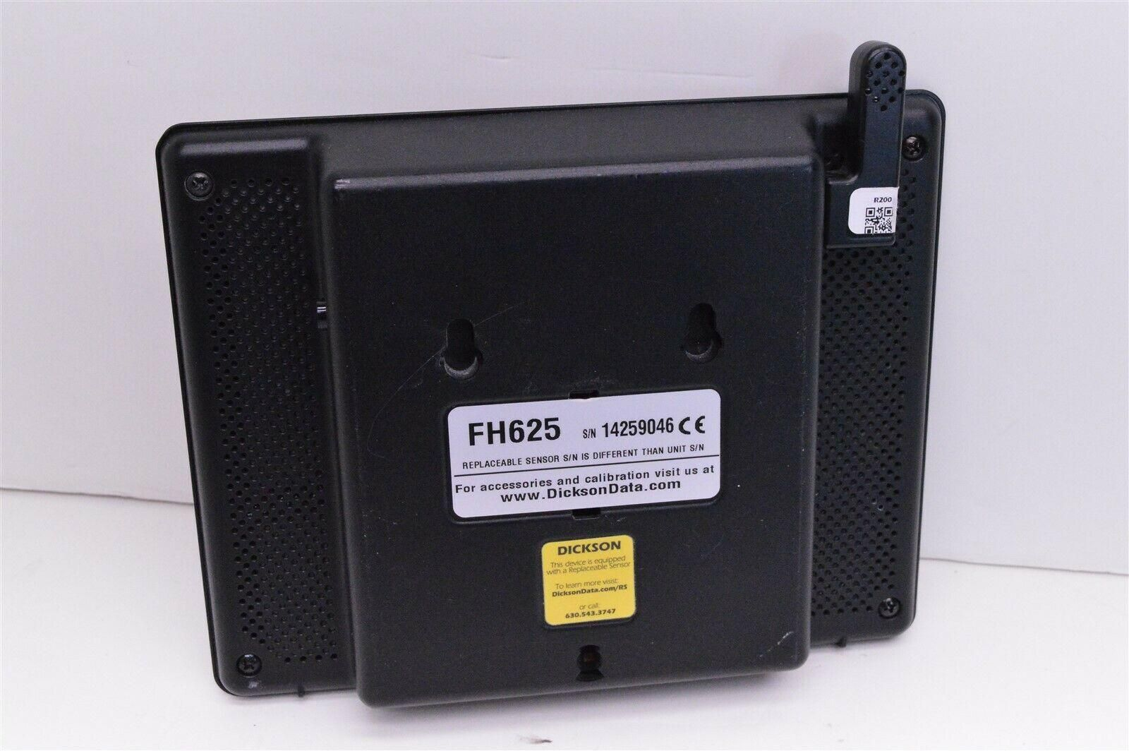 Dickson data FH625 digital touchscreen temperature chart recorder w/probe BAD
