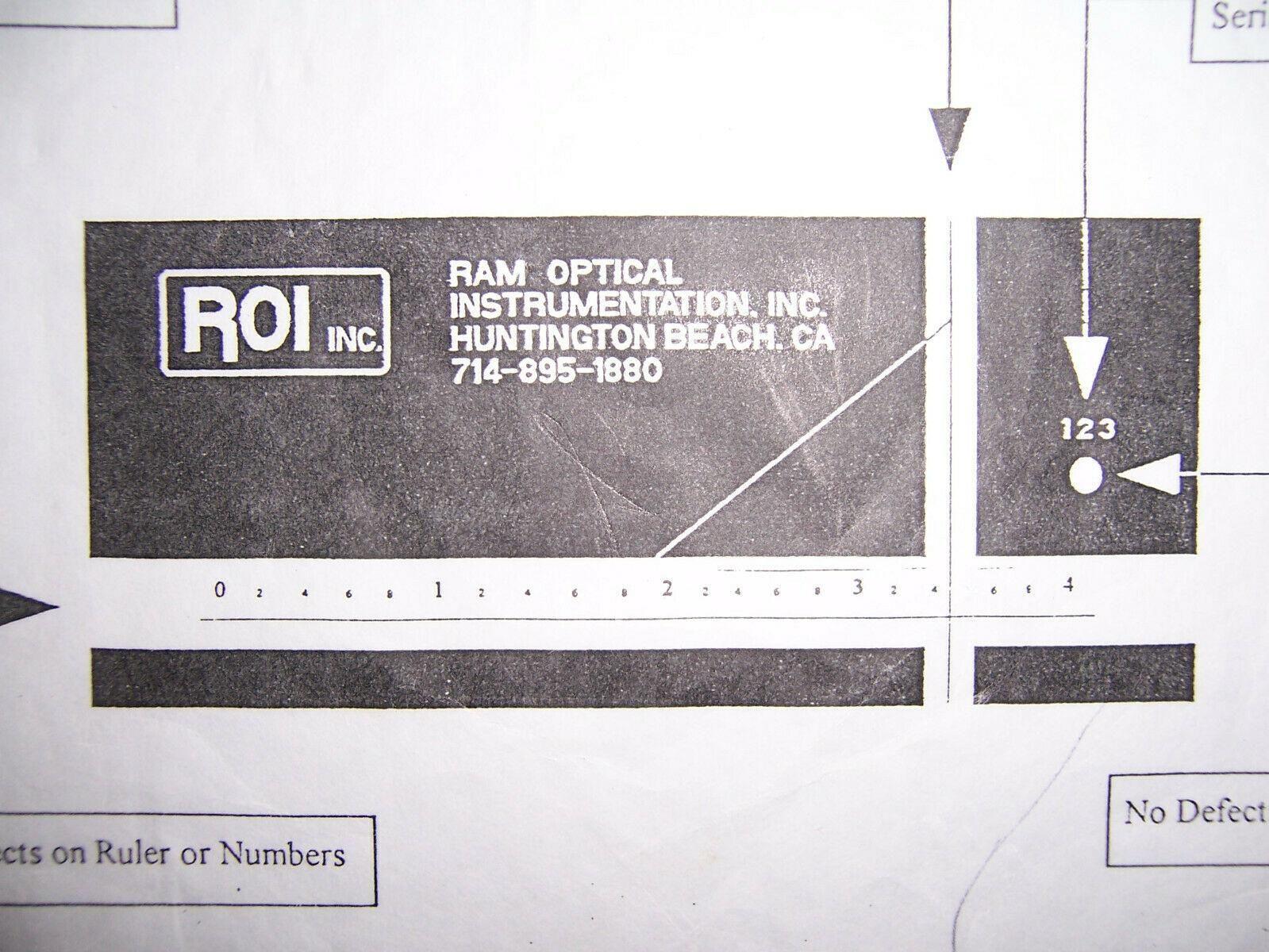 11900 ROI Ram optical standard calibration block for vision system / scope