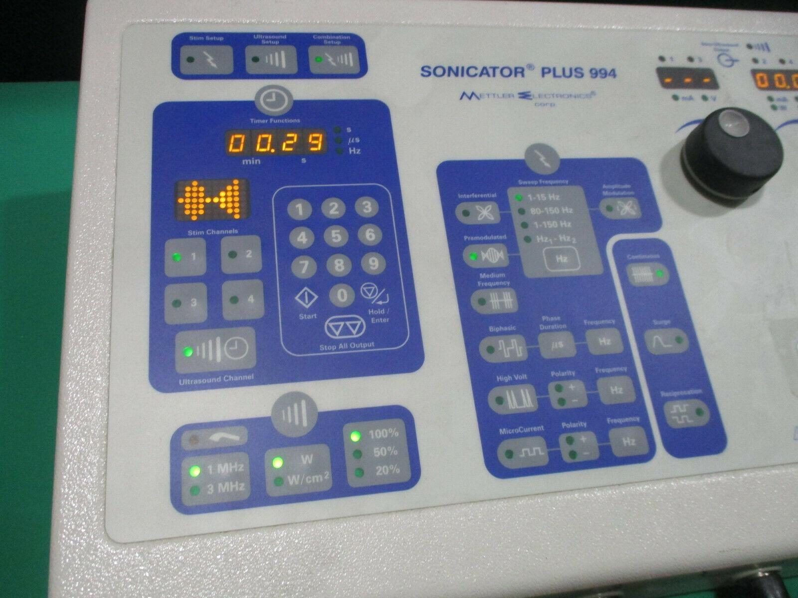 Mettler Electronics Sonicator PLUS 994 ME 994 with Accessories - Broken Dial