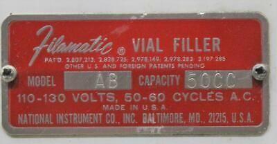 Filamatic Vial Filler Model AB