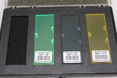 Calibration Slides Test Slide Kit #7 Green Blue Yellow
