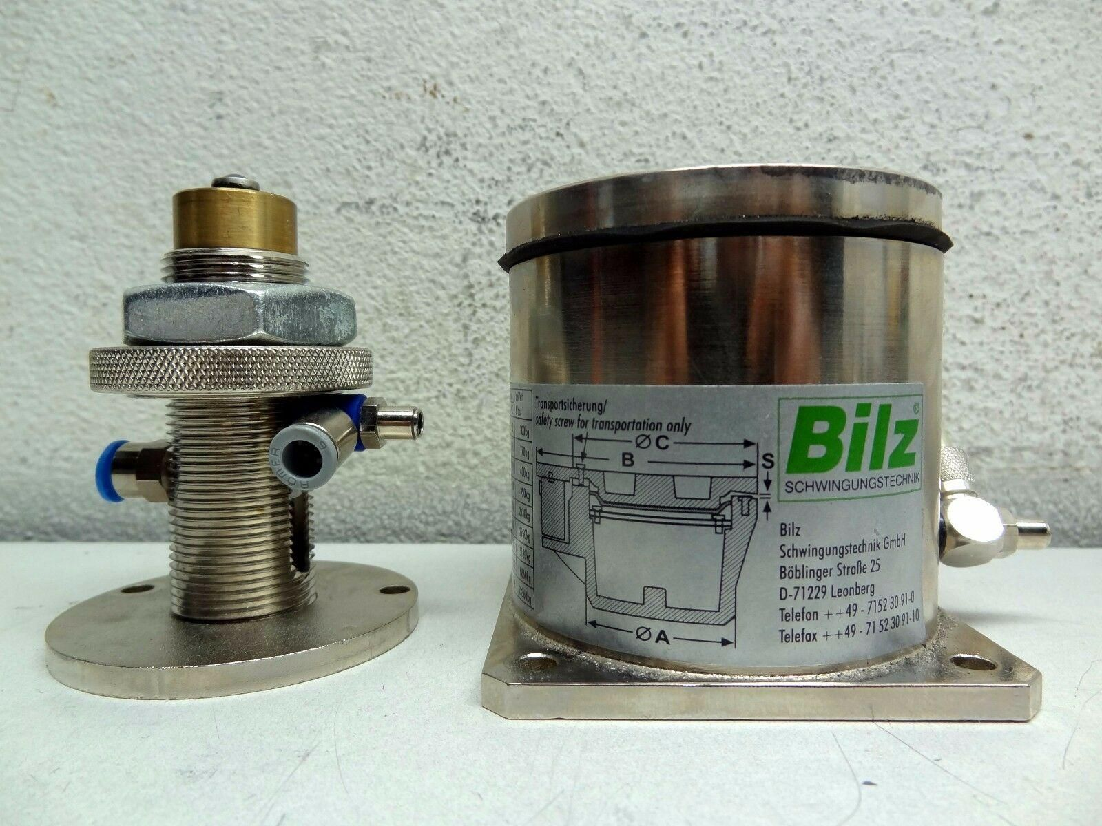 Bilz BiAir W0306 LOW FREQUENCY MEMBRANE AIR SPRING ISOLATOR ASSEMBLY *FREE S&H*