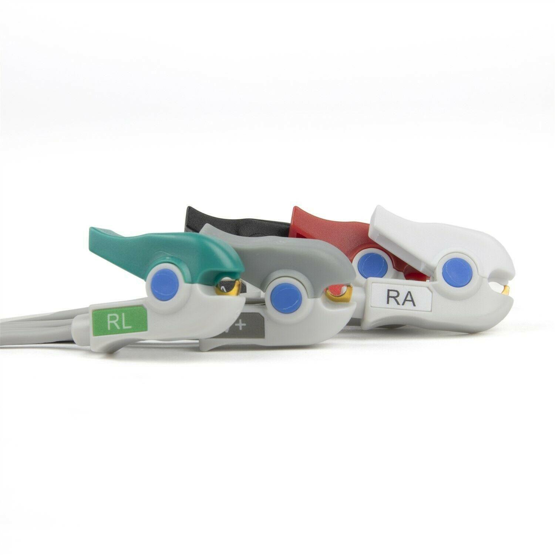 Drager 6 Lead Single Pin ECG Leadwires - Grabber