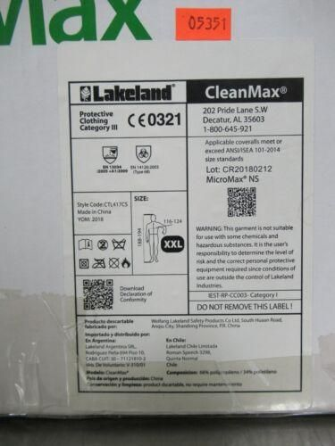 TB Case (25) Lakeland CleanMax Coverall with Binding Neck 2X-Large CTL417CS-2X