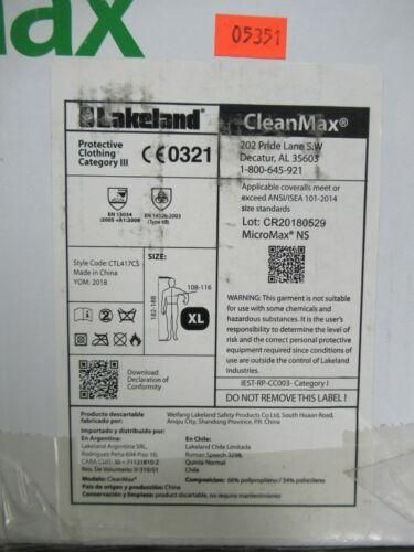 TB Case (25) Lakeland CleanMax Coverall with Binding Neck X-Large CTL417CS-XL
