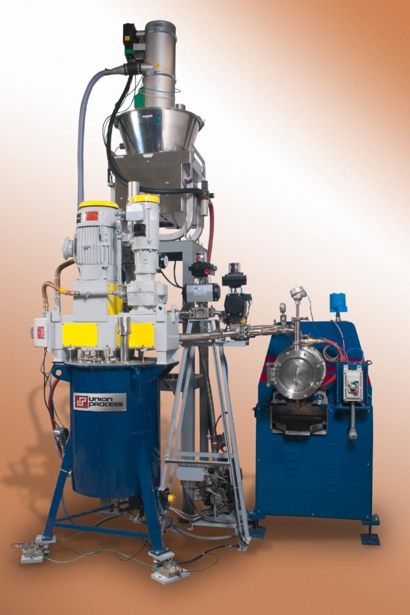 DMQX-Mill with feeder system and automated PLC controls