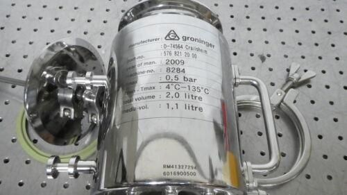 R176854 Groinger 2 L Volume Reactor Media Vol 1,1 Liter - Bioreactor