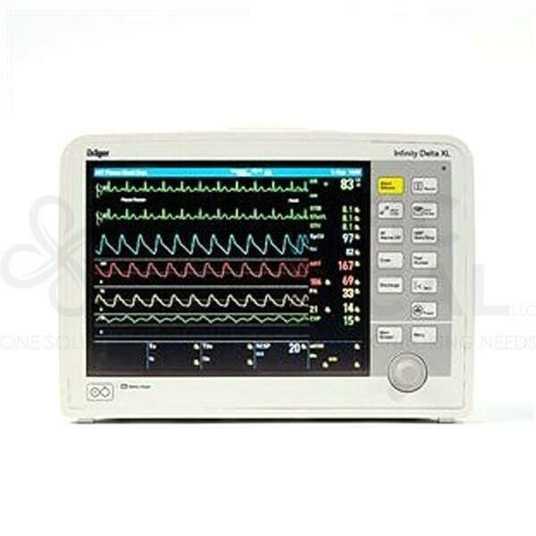 Siemens Drager Infinity Delta XL Patient Monitor Resp SpO2 Resp Temp