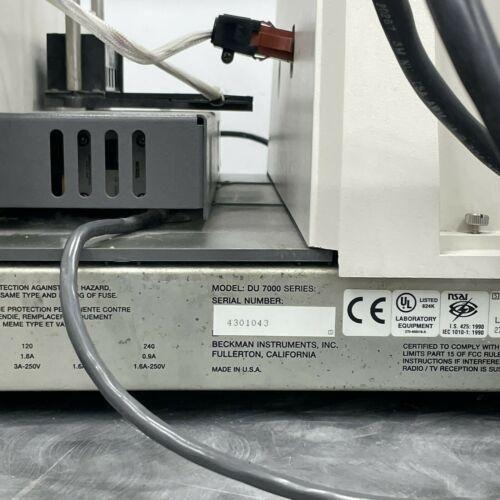 Beckman DU-7500 UV/Vis Diode Array Spectrophotometer - 7000 Series