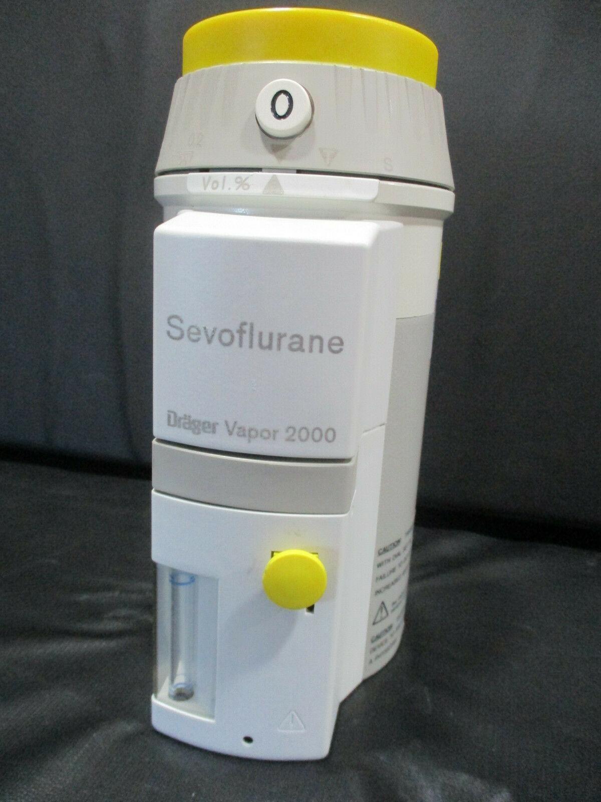 Drager Sevoflurane Vapor 2000 Vaporizer and Key - REFURBISHED - 90 DAY WARRANTY