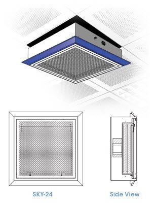 Air Science Purair SKY Ceiling Mounted Filtration Unit, SKY-24