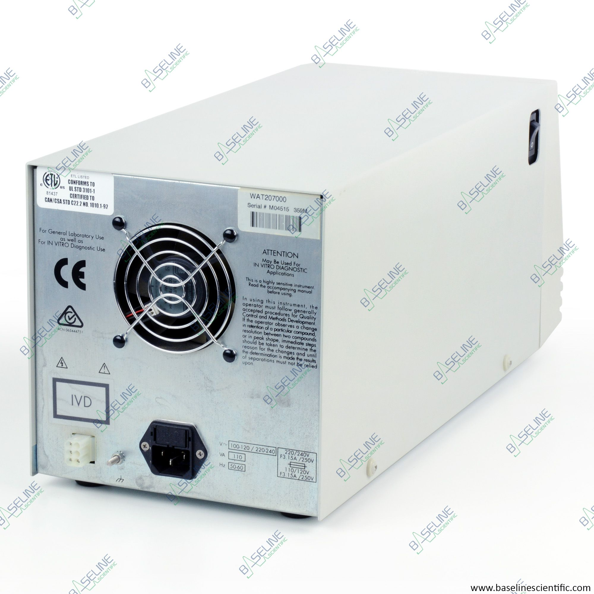 Refurbished Waters 515 HPLC Pump with ONE YEAR WARRANTY