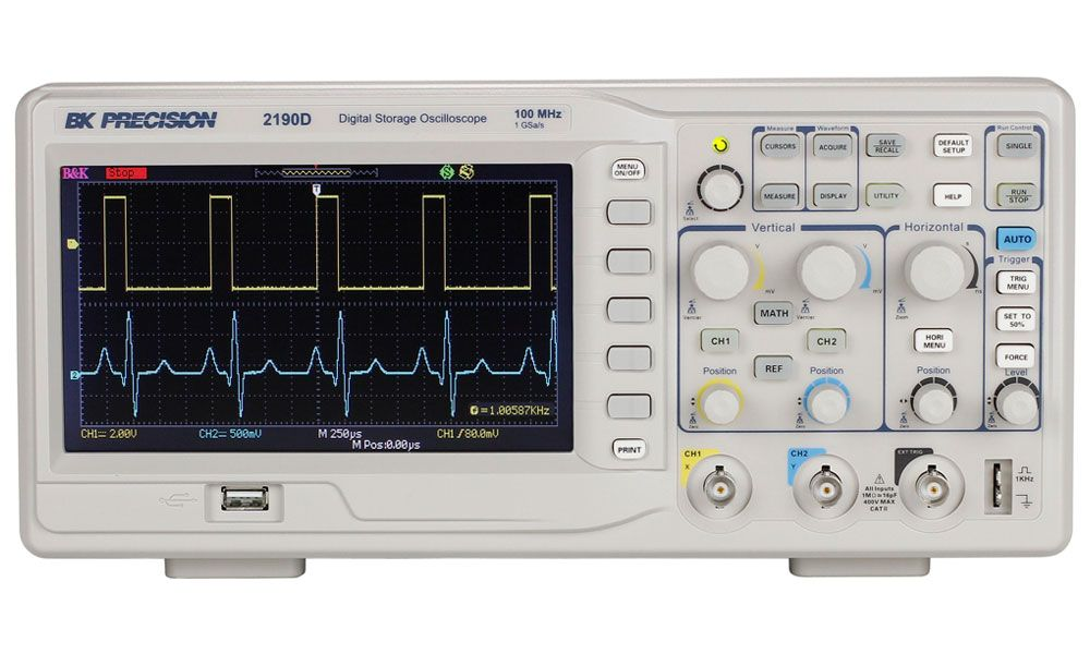 B&K Precison 2190D 100 MHz, 1 GSa/s, 2-Ch Digital Storage Oscilloscope