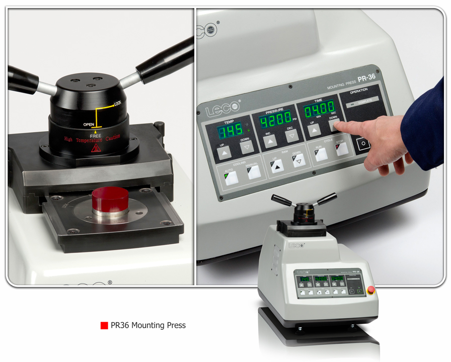 LECO PR36 Single and Dual Mounting Press