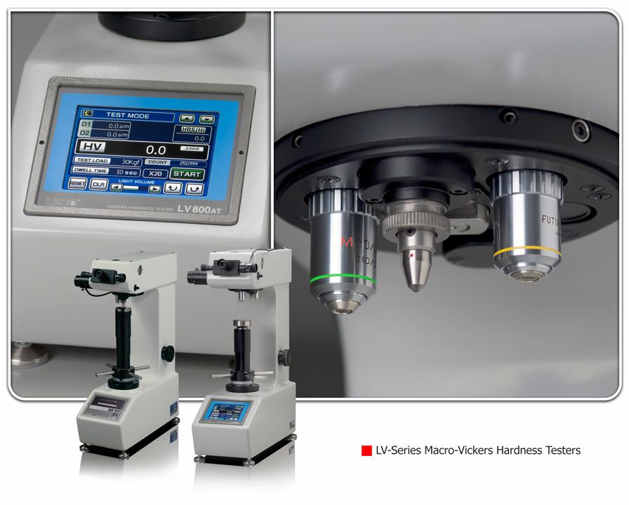 LECO LV Series Macro-Vickers Hardness Testing Systems