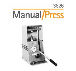 SPEX SamplePrep 3626 Manual/Press
