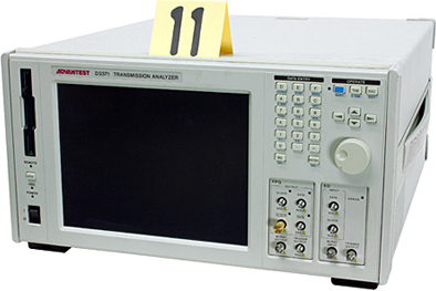 Advantest D3371 Test and Electronics Transmission Analyzer. The