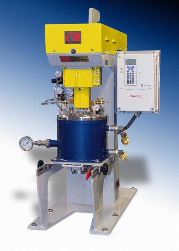 Union Process Produces S1 Lab Attritor with Tungsten Carbide-Lined Tank