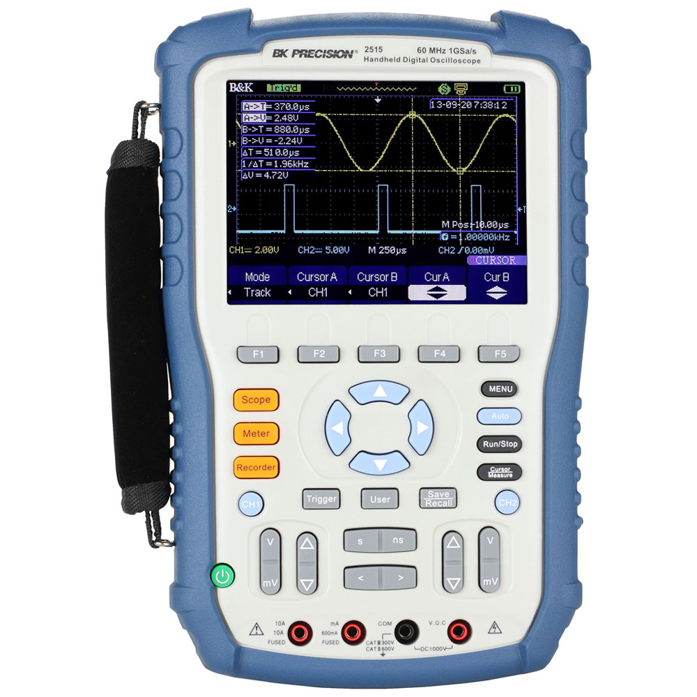 B&K Precision 2510 Series 60 MHz and 100 MHz, 1 GSa/s Handheld Digital Storage Oscilloscopes