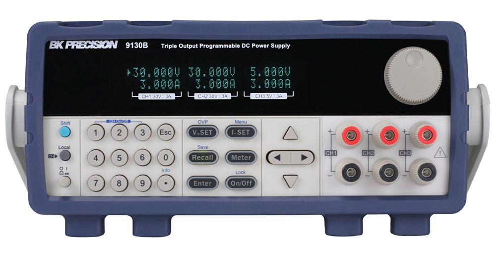 B&K Precision 9130B Series Triple Output Programmable DC Power Supplies