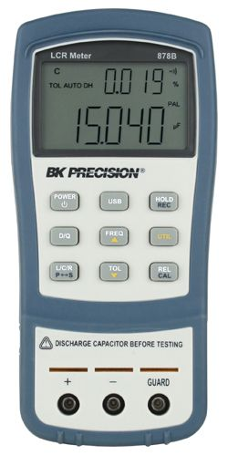 B&K Precision 878B and 879B 40,000 Count Dual Display Handheld LCR Meters