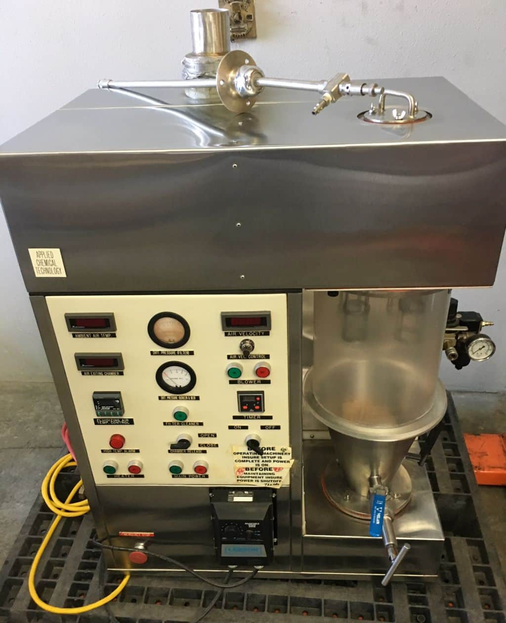Applied Chemical Technologies 100N Fluid Bed Granulator for sale