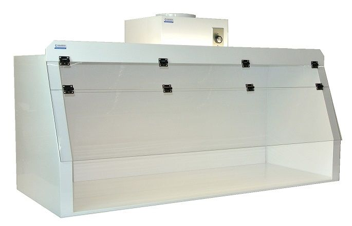 Cleatech Ducted Chemical Fume Hood, Polypropylene