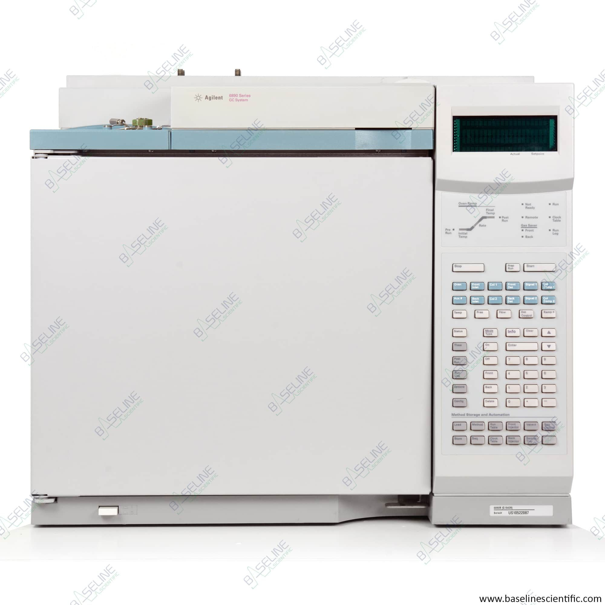 Refurbished Agilent 6890 GC with Single PP Purged/Packed Inlet and Single TCD