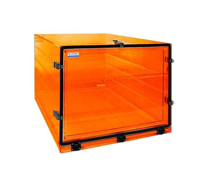 "Cleatech Desiccator, Single Door, Amber Acrylic, 24W"" x 24D"" x 18H"""