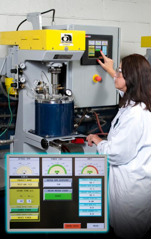 Union Process Introduces Laboratory Attritor With Touch Screen Controls and Data Acquisition Package