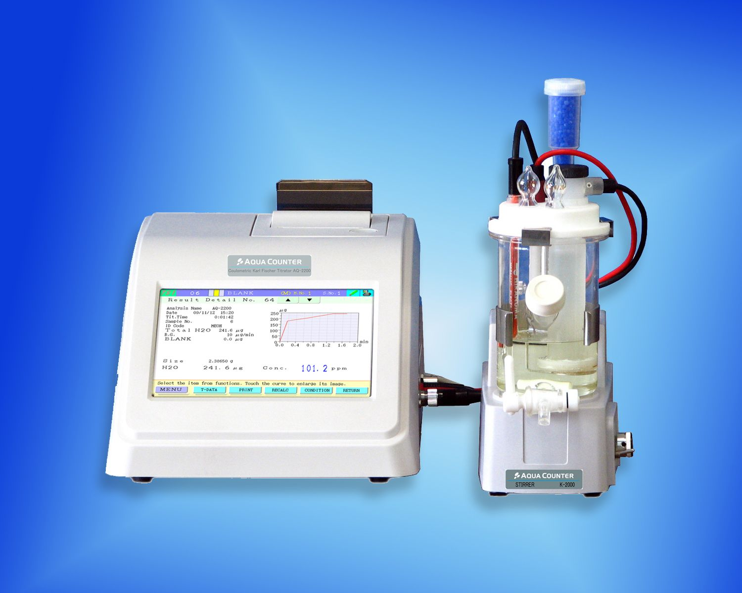 AQUACOUNTER Karl Fischer Coulometric Titrator (AQ-2200S)