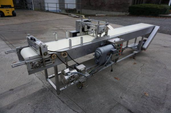 14 In. W x 12 Ft. L Conveyors Description 1-Used Belt Style Pasta Cutter. Constructed of stainless s