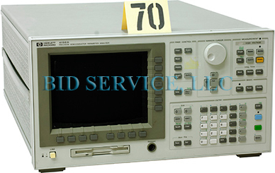 HP 4156A Test and Electronics Semiconductor Analyzer.