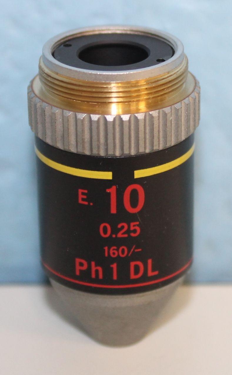 Nikon E Plan 10x025na Ph1 DL Objective