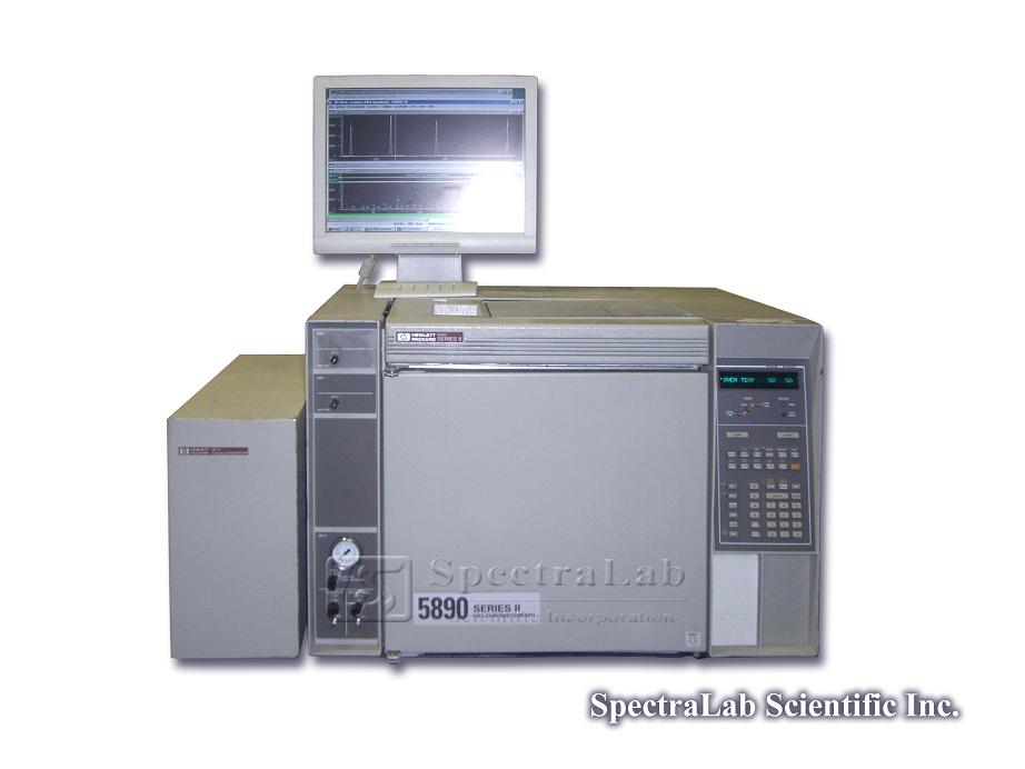 HP 5971A MSD with HP 5890 II GC, suitable software and rough pump