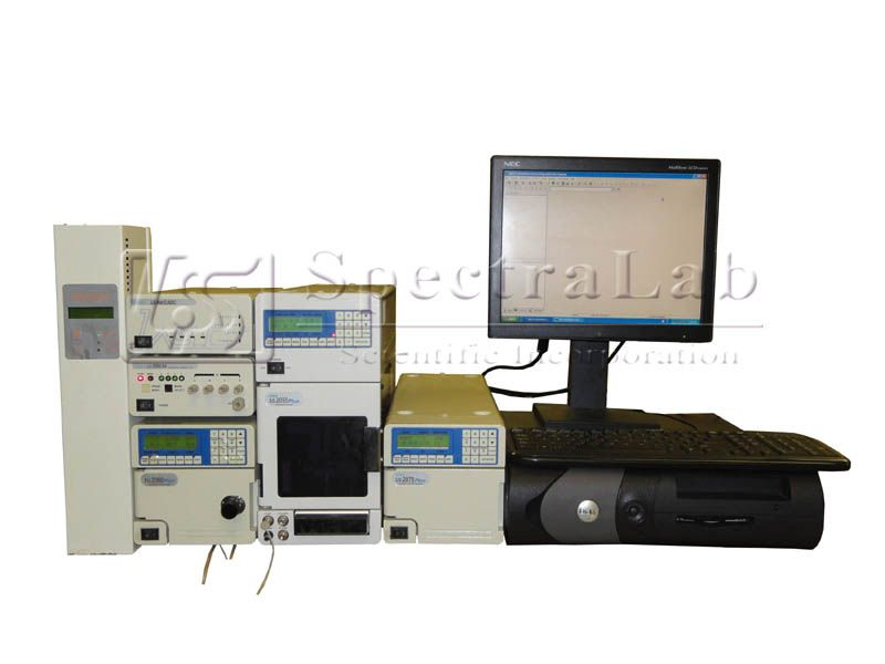 Jasco UV-2075Plus Intelligent UV-Vis Detector HPLC System with software