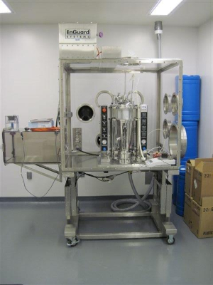Fluid Air RandD Scale 2 Fluid Bed Dryer in Isolation Chamber