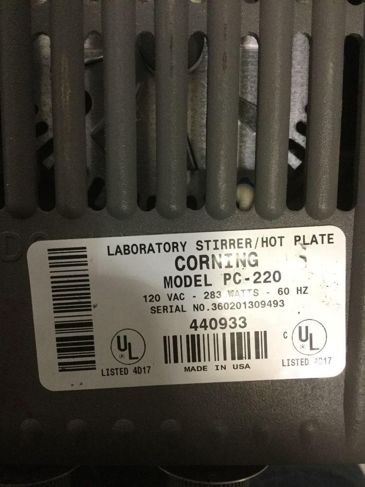 Corning PC-220 Hot Plate / Stirrer